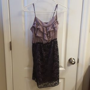 Purple and black dress